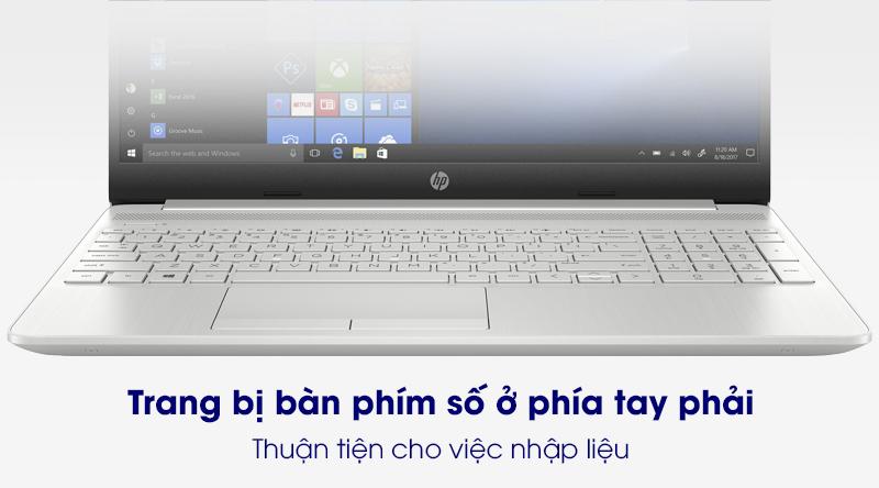 Laptop HP 15s du2050TX (1M8W2PA) | Bàn phím có cụm phím số
