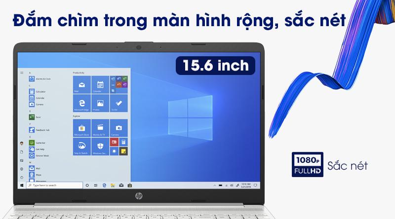 Laptop HP 15s du2050TX (1M8W2PA) | Hình ảnh sắc nét, màn hình chống chói tốt