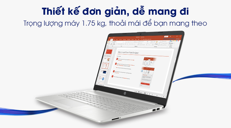 Laptop HP 15s du2050TX (1M8W2PA) | Thiết kế đơn giản, linh động