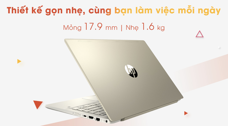 Laptop HP Pavilion 14 ce3067TU | Thiết kế gọn nhẹ