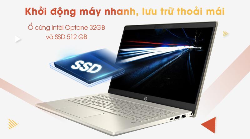 Laptop HP Pavilion 14 ce3067TU | Được trang bị Intel Optane 32 GB (H10) và 512 GB SSD