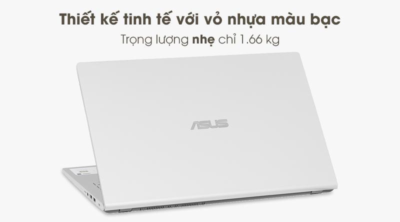 Laptop Asus có trọng lượng chỉ khoảng 1.66 kg và độ dày 22.9 mm