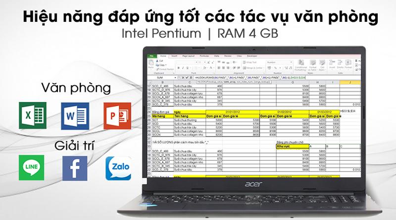 Acer Aspire 3 A315 - Hiệu năng