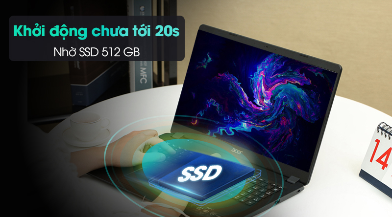 Acer Aspire 3 A315 56 58EB | Ổ cứng SSD 512 GB