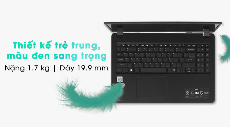 Acer Aspire 3 mang trong mình một thiết kế trang nhã