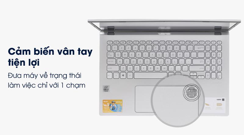 Asus VivoBook X509JA i3 được trang bị cảm biến vân tay