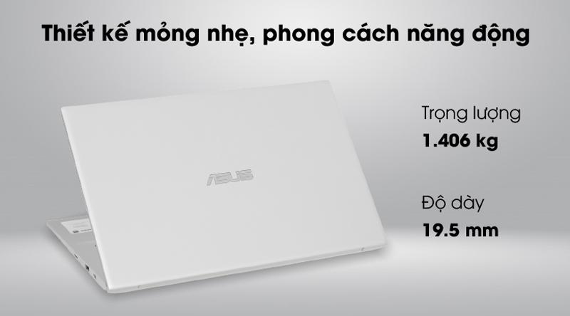 Asus VivoBook A412FA i3 10110U/4GB/512GB/Win10 (EK1175T) - Thiết kế