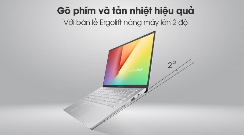 Asus VivoBook A412FA i3 10110U/4GB/512GB/Win10 (EK1175T) - Bản lề