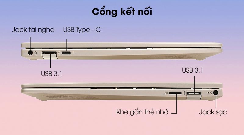 Cổng kết nối HP Envy 13 ba0045TU i5