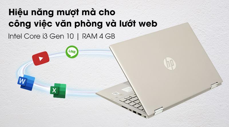 HP Pavilion x360 14 dw0060TU i3 1005G1-Cấu hình