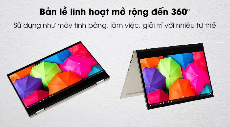 HP Pavilion x360 14 dw0060TU i3 1005G1-Bản lề 360 độ