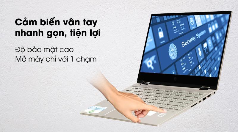 HP Pavilion x360 14 dw0060TU i3 1005G1-Mở khóa vân tay