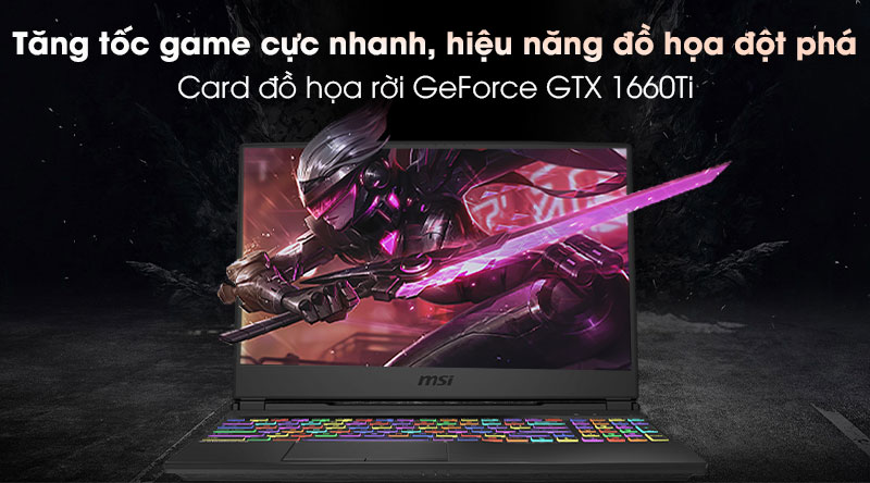 Laptop MSI Gaming Leopard 10SDK GL65 i7 (242VN) - Card đồ họa
