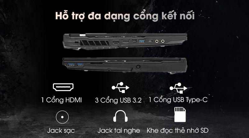 Laptop MSI Gaming Leopard 10SDK GL65 i7 (242VN) - Cổng kết nối