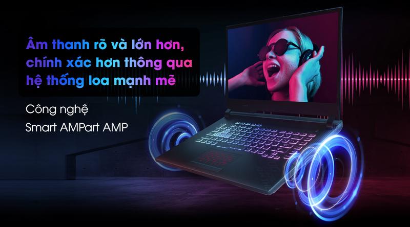Asus Gaming ROG Strix G512   Công nghệ Smart AMP