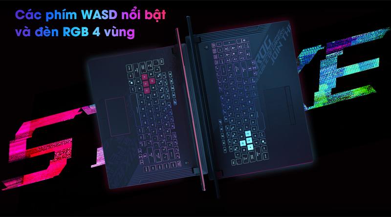 Asus Gaming ROG Strix G512   Bàn phím có đèn nền