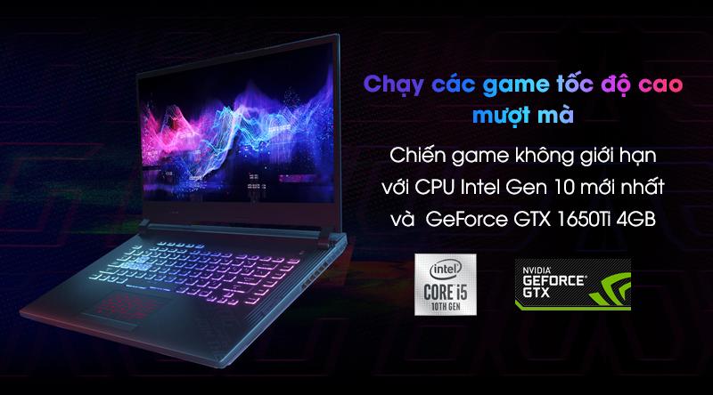 Asus Gaming ROG Strix G512   Card đồ họa rời khủng NVIDIA GeForce GTX 1650Ti 4GB