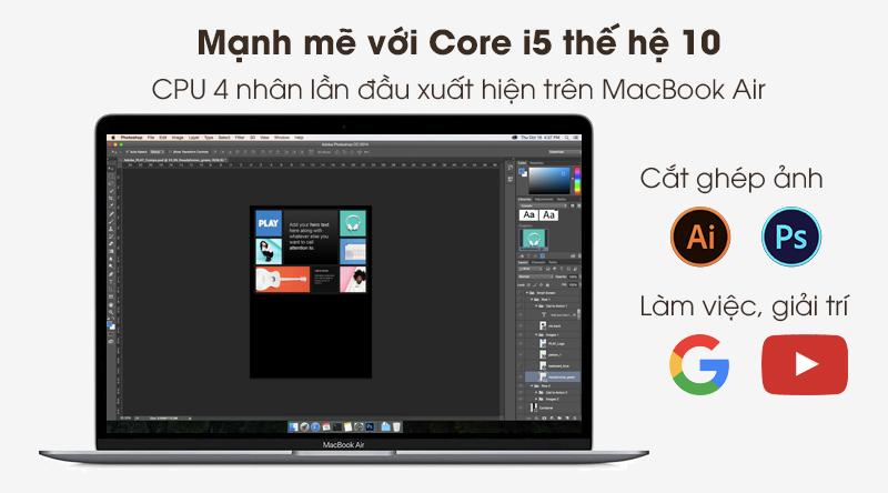 Laptop Apple Macbook Air 2020 i5 (Z0YJ) được trang bị chip xử lý Intel Core i5