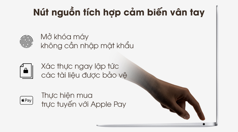 Laptop Apple Macbook Air 2020 i5 (Z0YJ) với Touch ID hiện đại