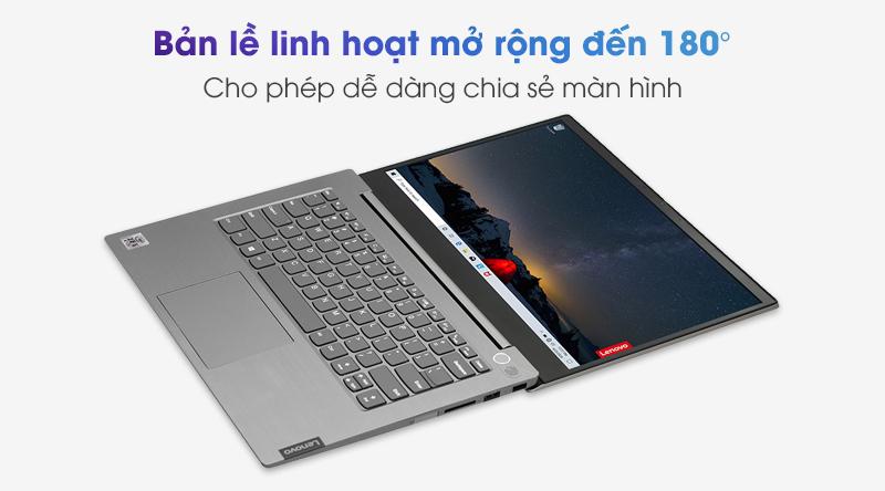 Lenovo ThinkBook 14 IIL i5 | Bản lề của máy có thể mở rộng lên đến 180 độ