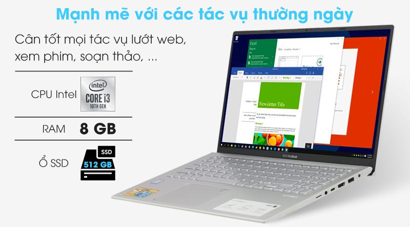 Asus VivoBook A512FA i3 (EJ2033T) sử dụng văn phòng, trình duyệt mượt mà