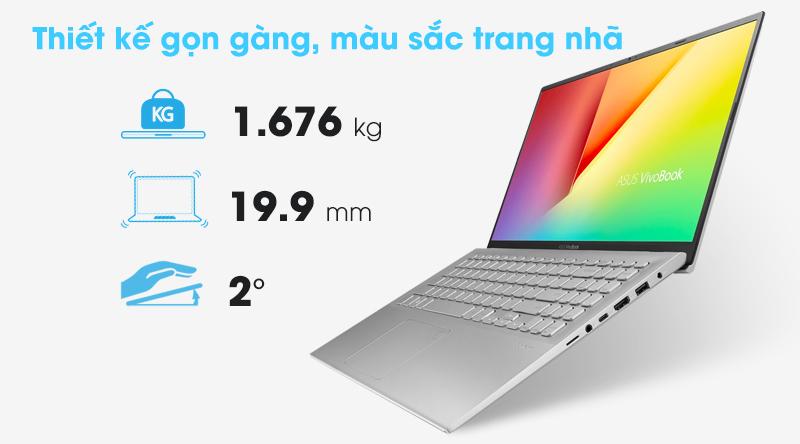ASUS VivoBook A512FA với phong cách thiết kế đơn giản