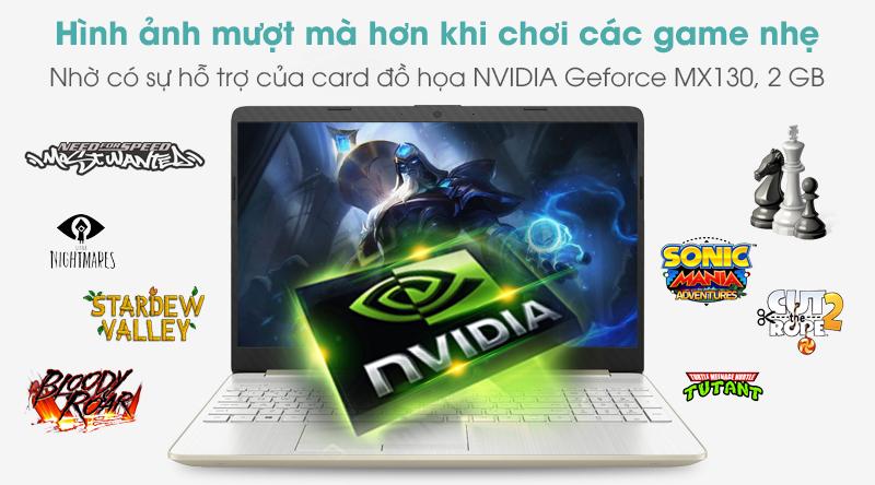 Laptop HP 15s du1076TX i5 10210U | Card đồ họa rời NVIDIA Geforce MX130