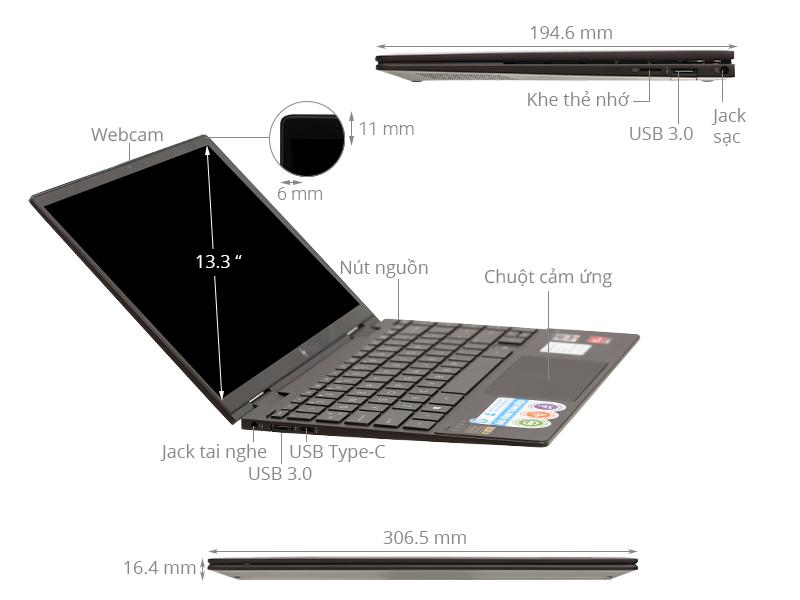 Laptop HP Envy X360 13 ay0067au R5 4500U/8GB/256GB/Win10 (171N1PA)