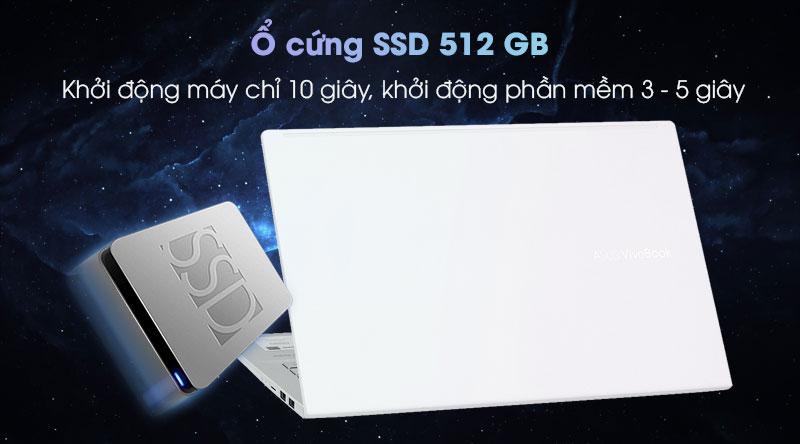Laptop Asus có ổ cứng SSD 512 GB siêu nhanh