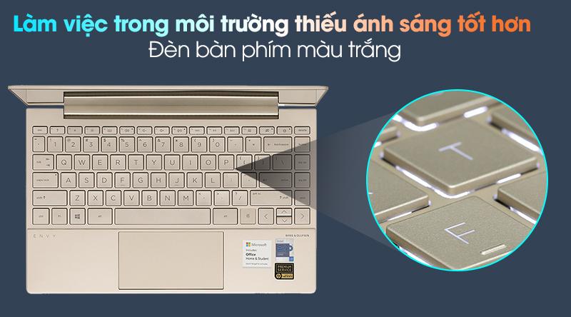 HP Envy 13 ba1030TU i7 1165G7 (2K0B6PA) - Đèn bàn phím