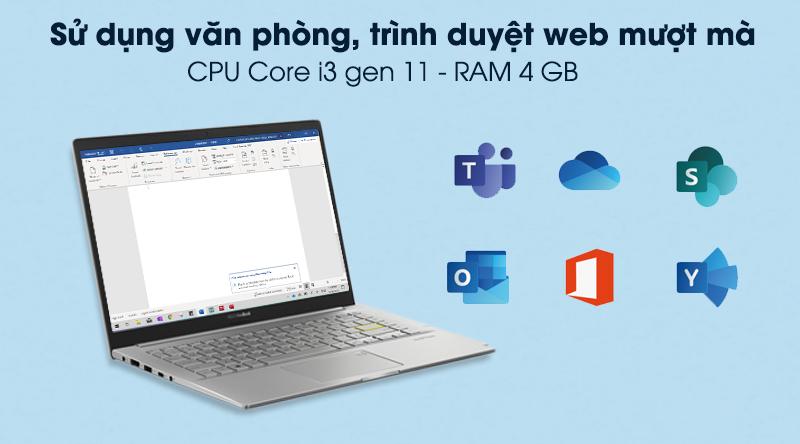 Laptop Asus VivoBook A415EA i3 (EB353T) - cấu hình