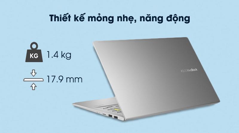 Laptop Asus VivoBook A415EA i3 (EB353T) - Thiết kế
