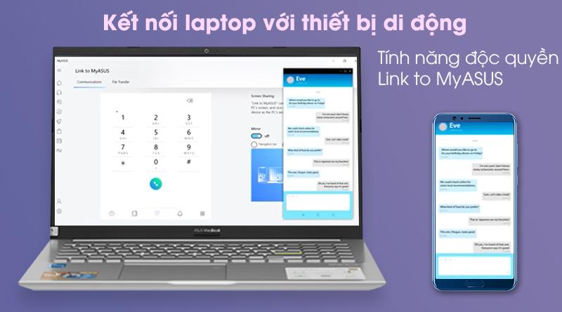 Laptop Asus VivoBook A515EA i3 (BQ497T) - Phần mềm myAsus