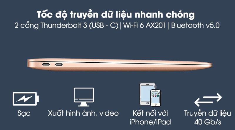 Apple Macbook Air 2020 (MGNE3SA/A) - Kết nối