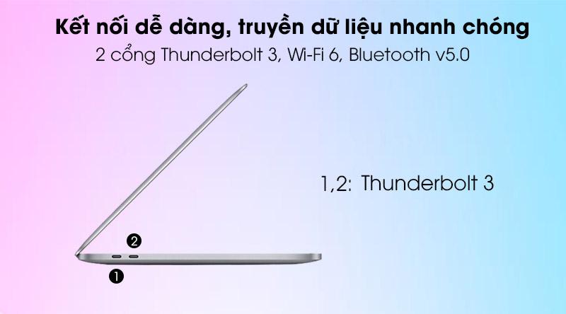 Apple Macbook Pro 2020 (MYD82SA/A) - cổng kết nối