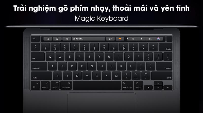 Laptop Apple Macbook Pro 2020 M1/16GB/512GB (Z11C) - Magic Keyboard
