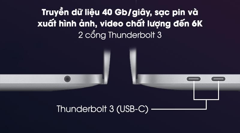 Laptop Apple Macbook Pro 2020 M1/16GB/512GB (Z11C) - Kết nối