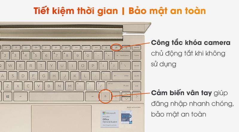 Chiếc laptop doanh nhân cao cấp này được trang bị cảm biến vân tay siêu nhạy
