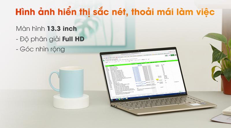HP Envy 13 sở hữu màn hình 13.3 inch Full HD