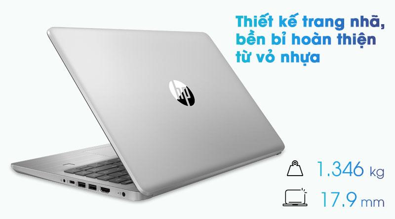 Laptop HP 340s G7 được hoàn thiện từ vỏ nhựa