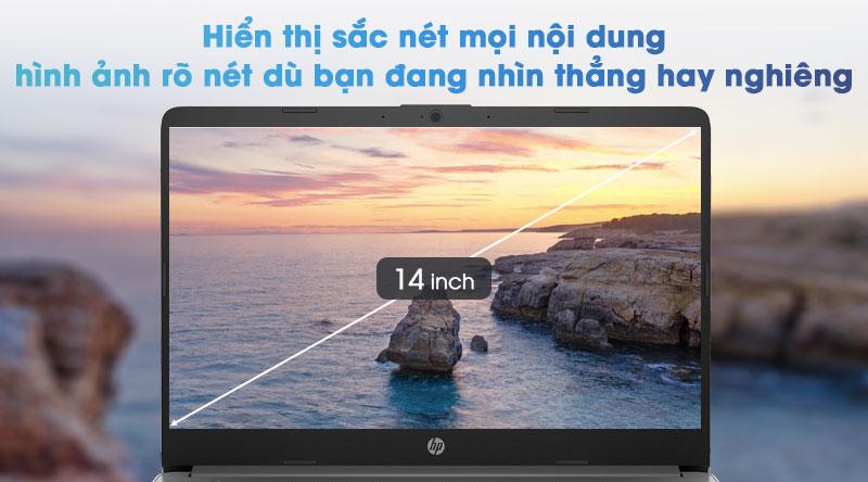 Hiển thị sắc nét mọi nội dung Với màn hình 14 inch độ phân giải Full HD