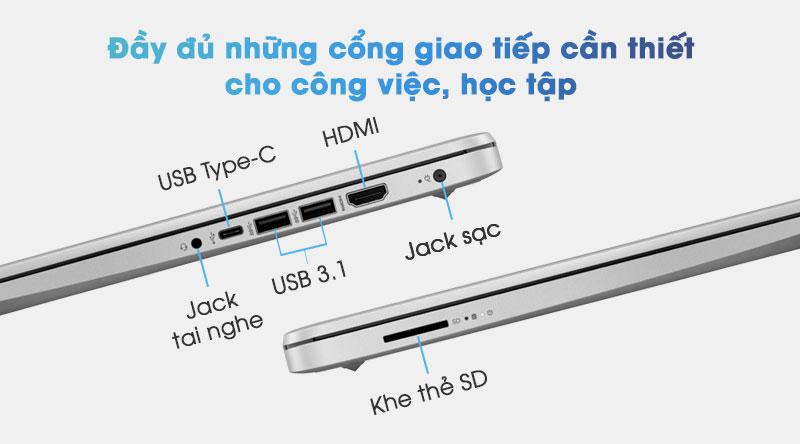 Chiếc laptop mỏng nhẹ này có đầy đủ những cổng giao tiếp cần thiết