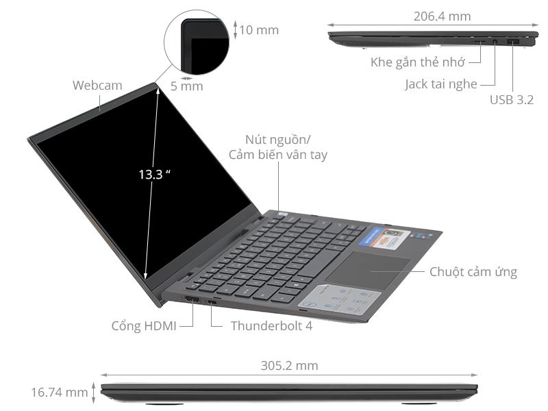 Dell Inspiron 7306 i5 1135G7/8GB/512GB/Touch/Pen/Win10 (N3I5202W)