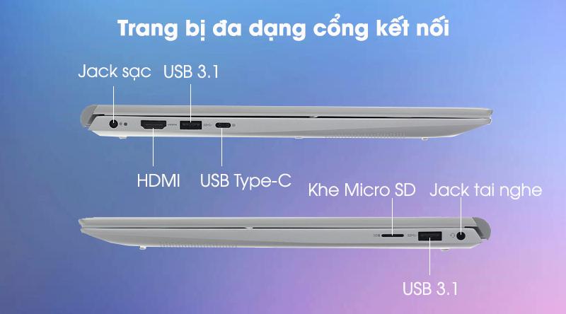 Laptop Dell Inspiron 5502 i5 (1XGR11) - Cổng kết nối