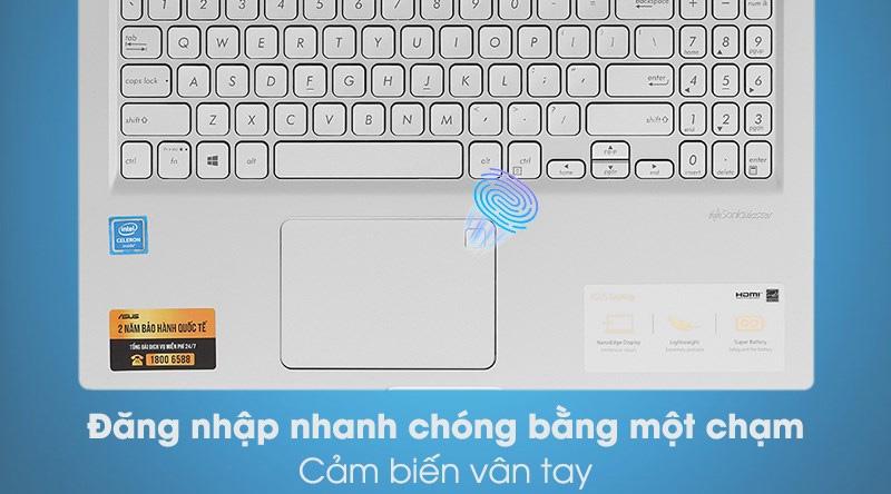 Laptop Asus VivoBook X515MA (BR111T) - Vân tay