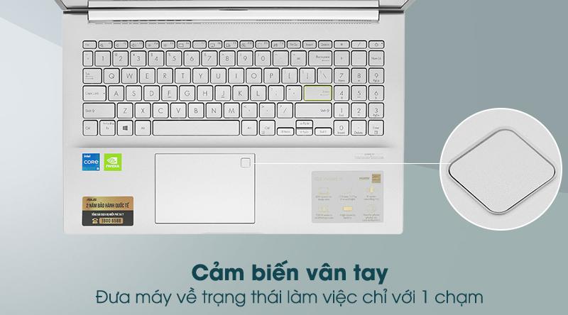Laptop Asus VivoBook A515EP - Vân tay