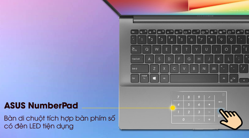 Asus VivoBook S433EA i5 (AM439T) - numberpad