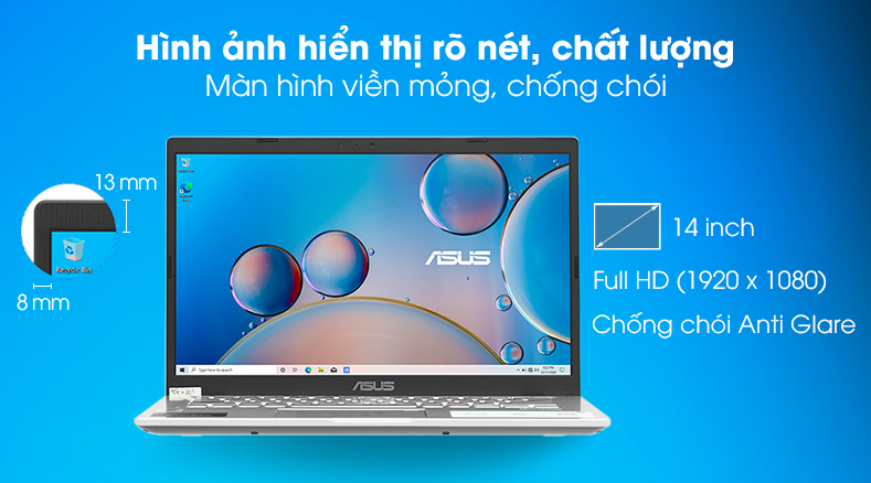 Laptop Asus VivoBook X415JA (EK258T) - Màn hình
