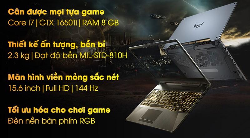 Asus TUF Gaming FX506LI i7 10870H (HN096T)