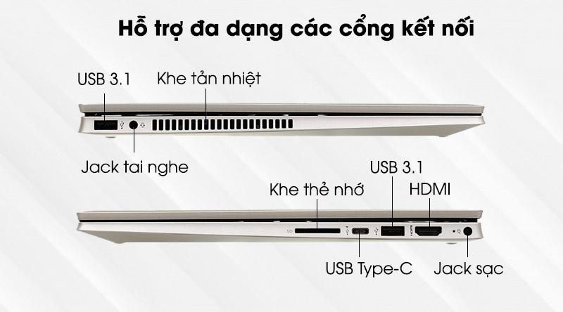 HP Pavilion x360 dw1016TU i3 (2H3Q0PA) - kết nối